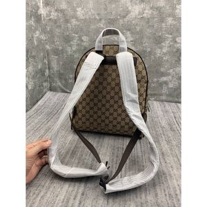 Gucci backpack gg canvas backpack